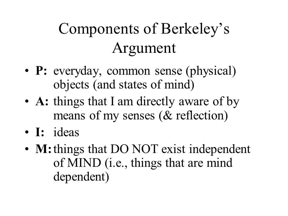 Components of Berkeley's Argument