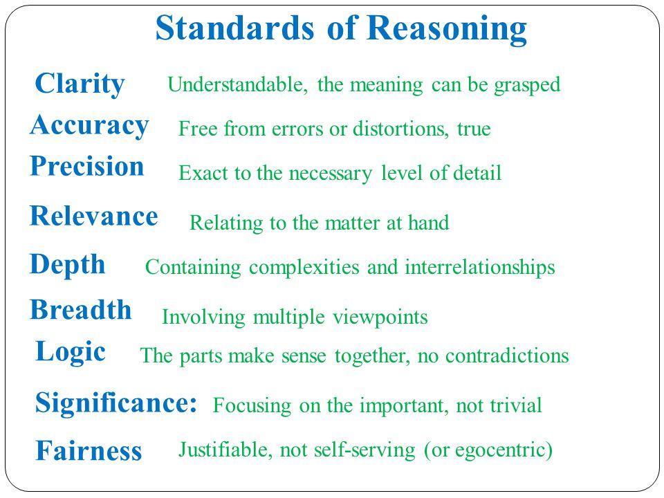 Standards of Reasoning