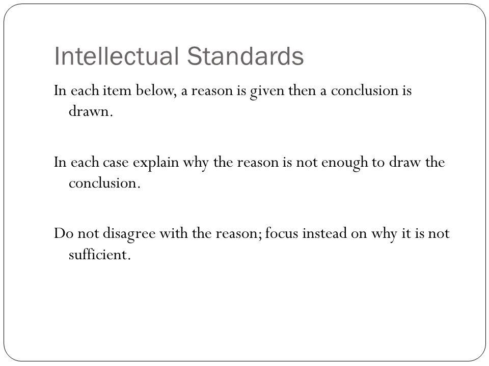 Intellectual Standards