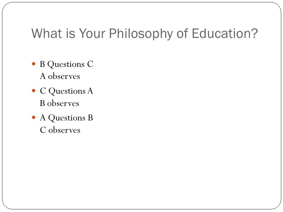 What is Your Philosophy of Education