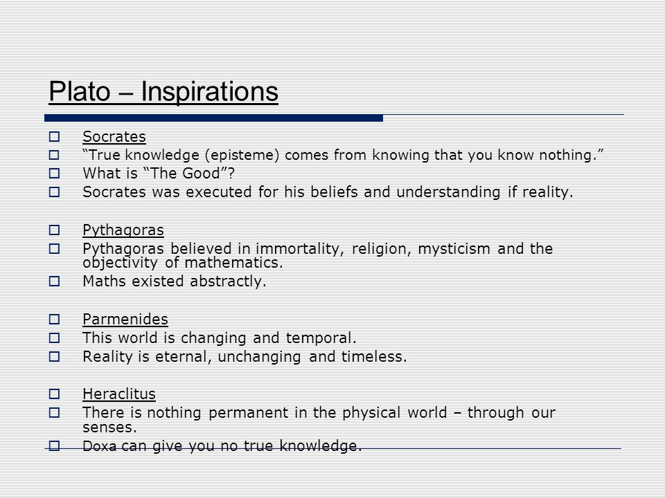 Plato – Inspirations Socrates What is The Good