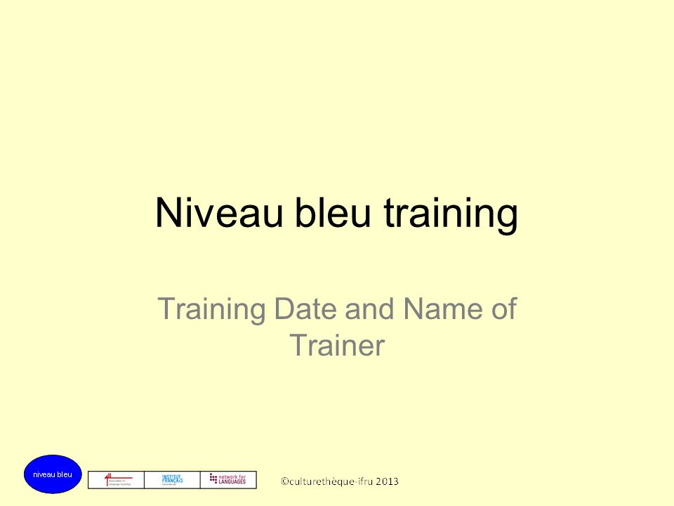 Training Date and Name of Trainer