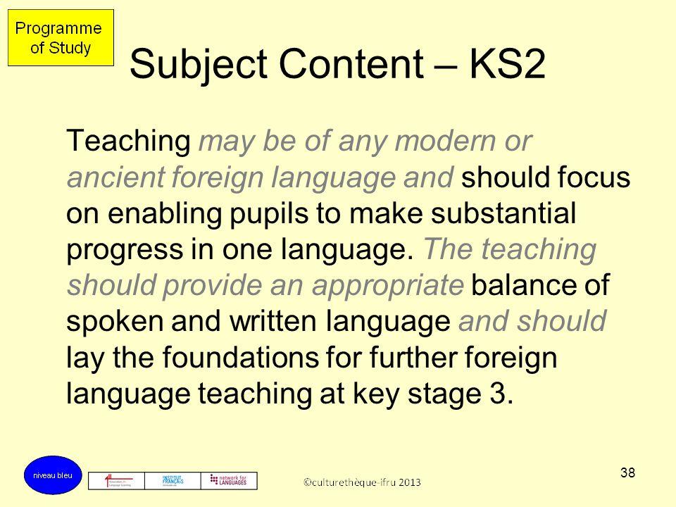Subject Content – KS2