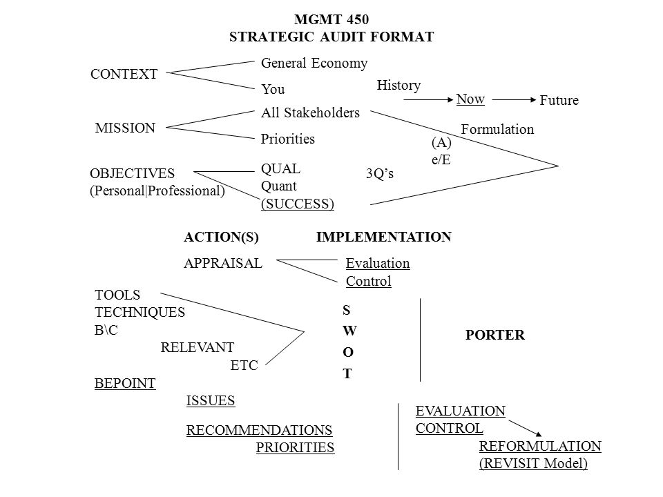 MGMT 450 STRATEGIC AUDIT FORMAT