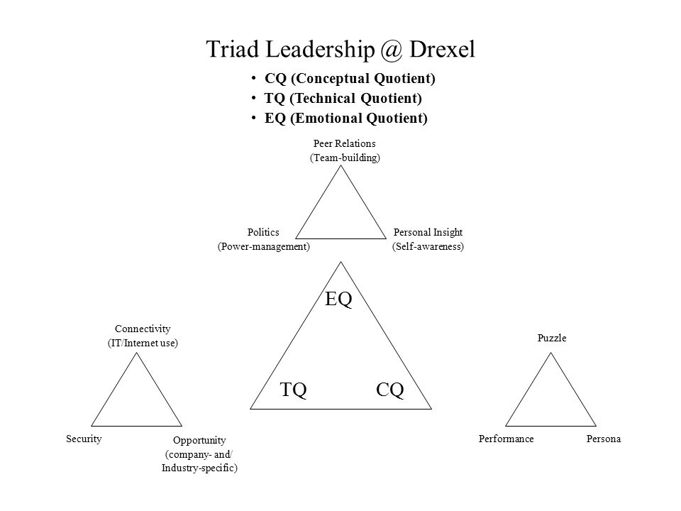Triad Leadership @ Drexel