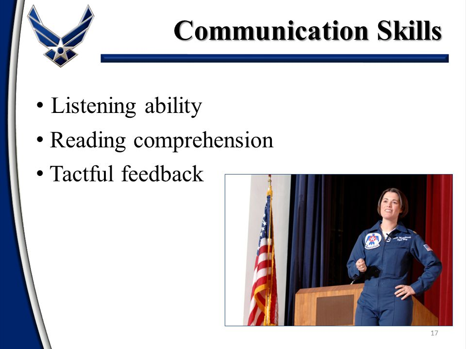 Communication Skills Listening ability Reading comprehension