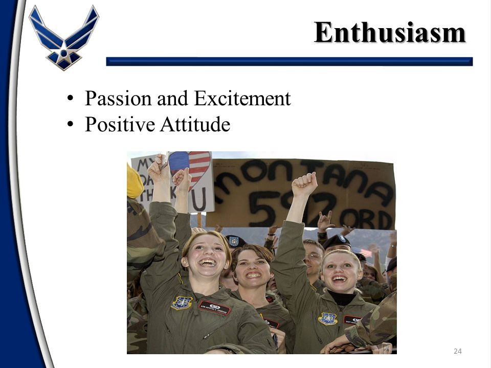 Enthusiasm Passion and Excitement Positive Attitude