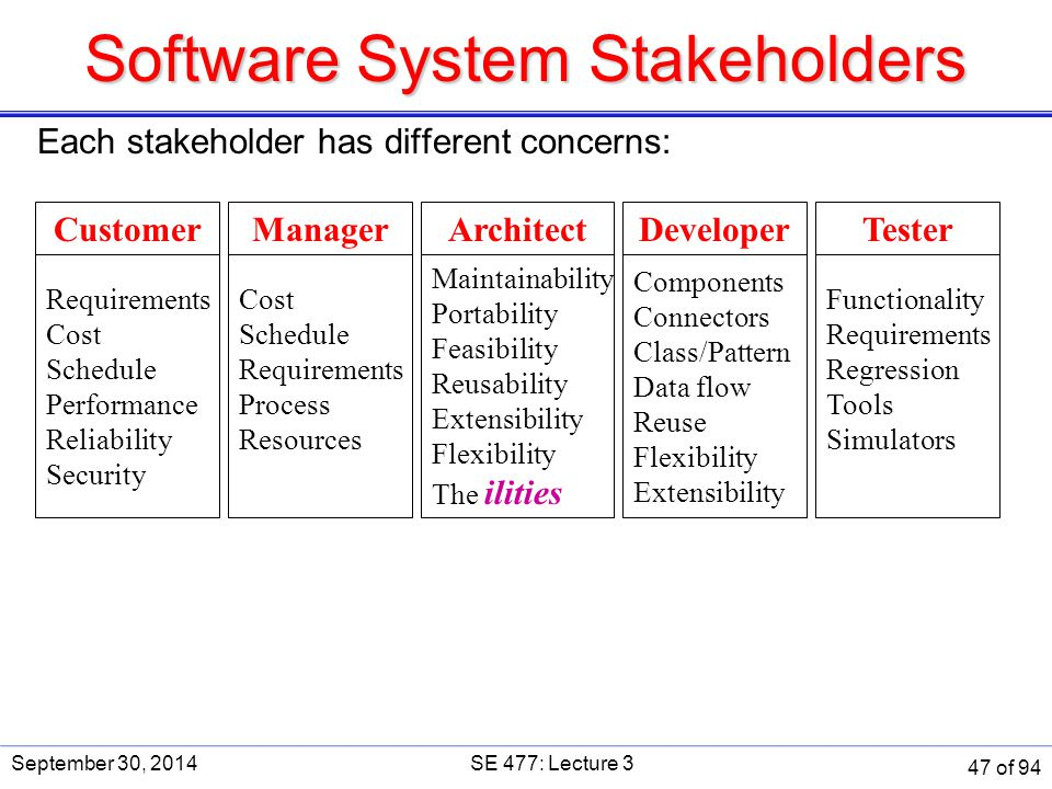 Software System Stakeholders