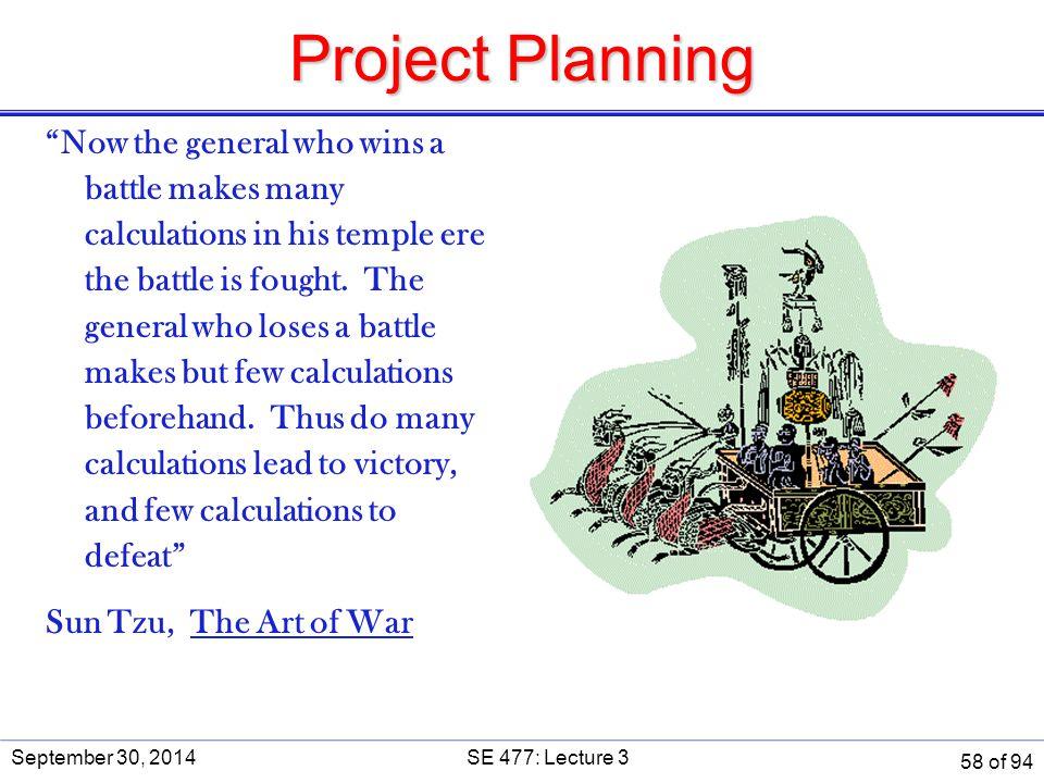 Project Planning SE 477. September 30, 2014.
