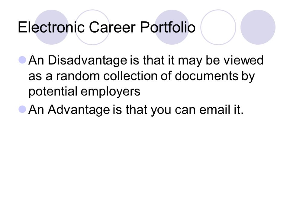 Electronic Career Portfolio