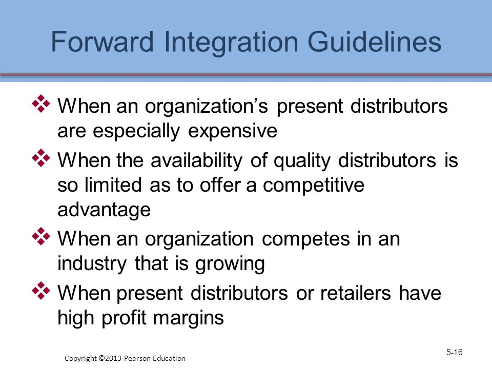 Forward Integration Guidelines