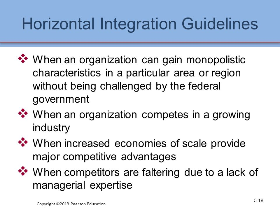 Horizontal Integration Guidelines