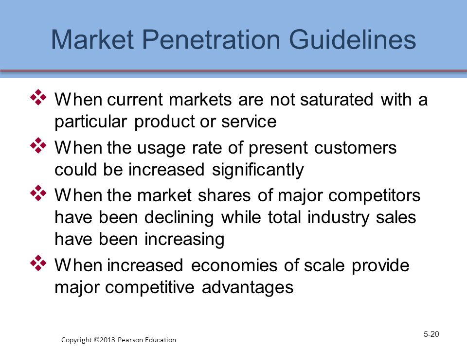 Market Penetration Guidelines