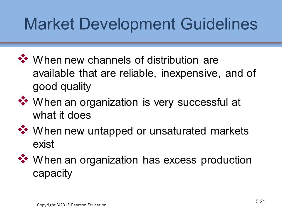 Market Development Guidelines