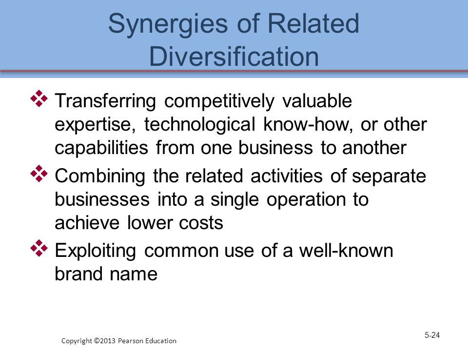 Synergies of Related Diversification