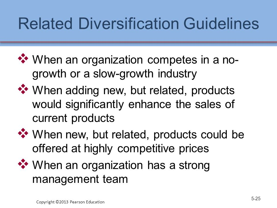 Related Diversification Guidelines