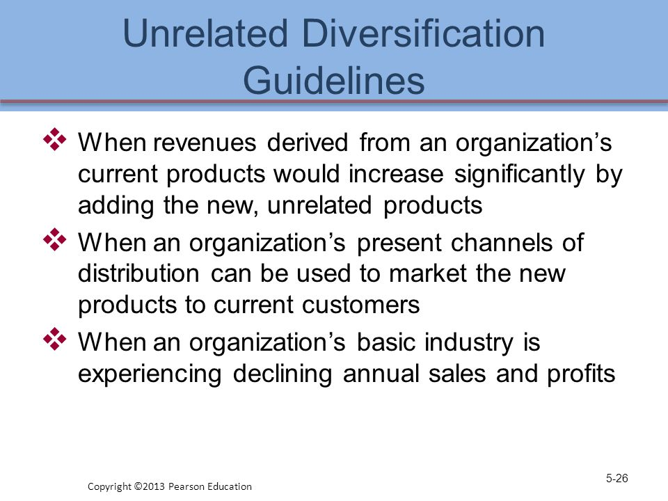 Unrelated Diversification Guidelines