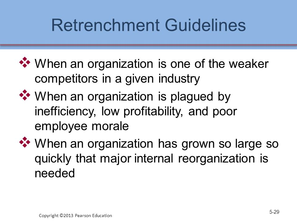 Retrenchment Guidelines