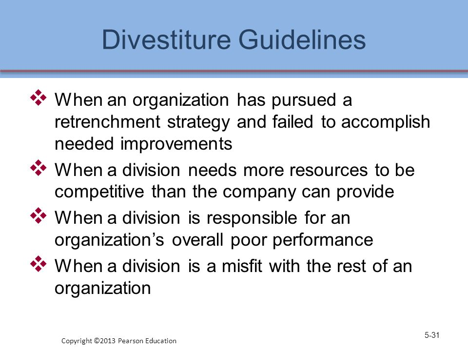 Divestiture Guidelines
