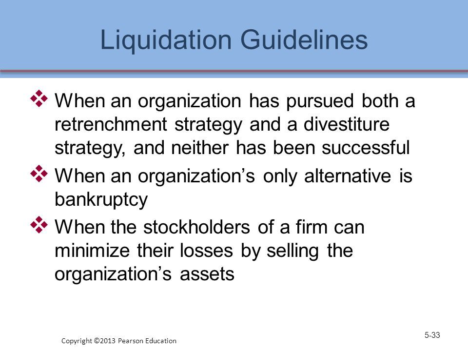 Liquidation Guidelines