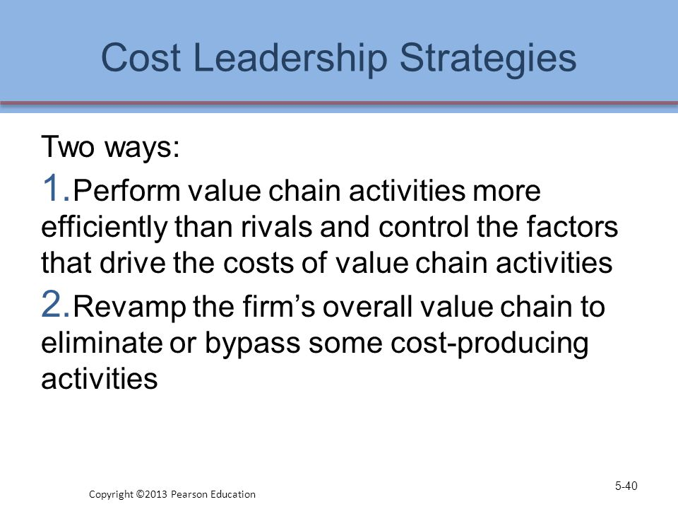 Cost Leadership Strategies