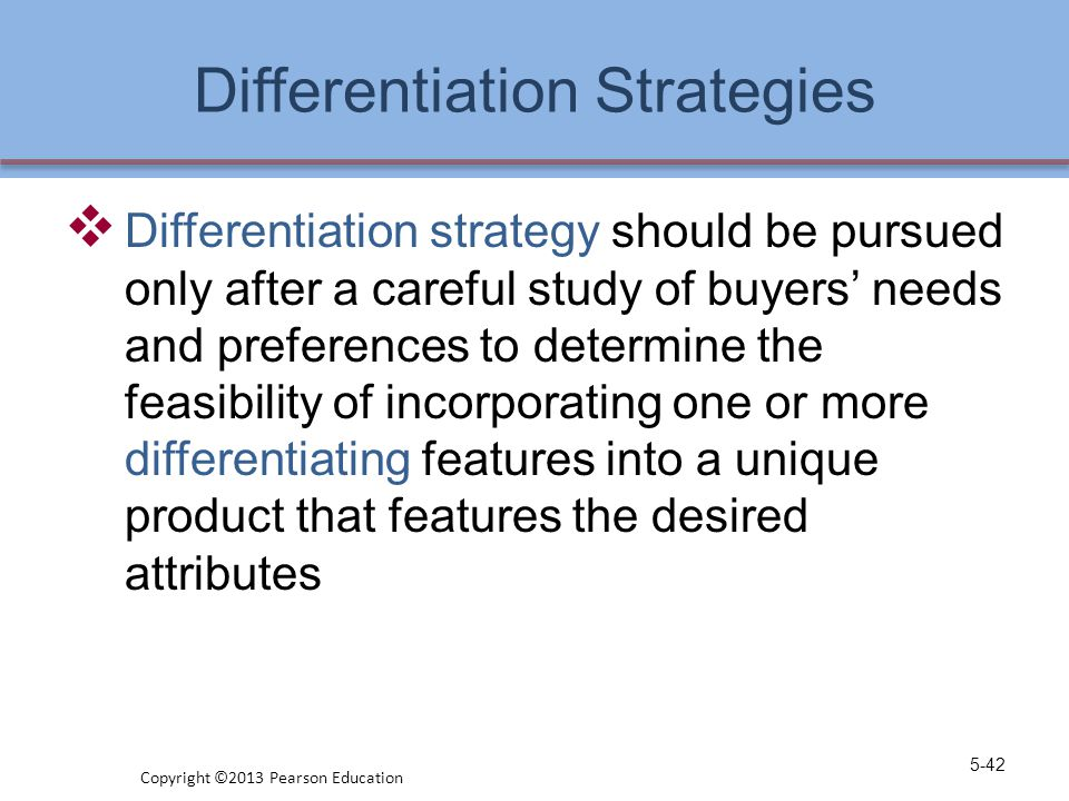Differentiation Strategies