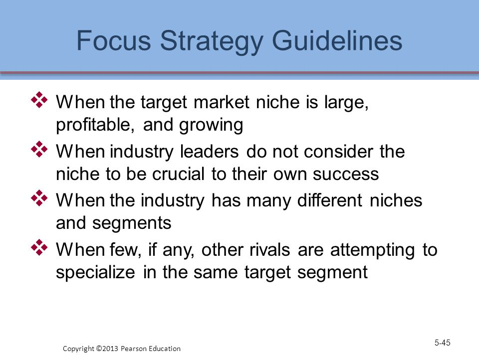 Focus Strategy Guidelines