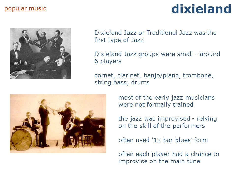 dixieland popular music