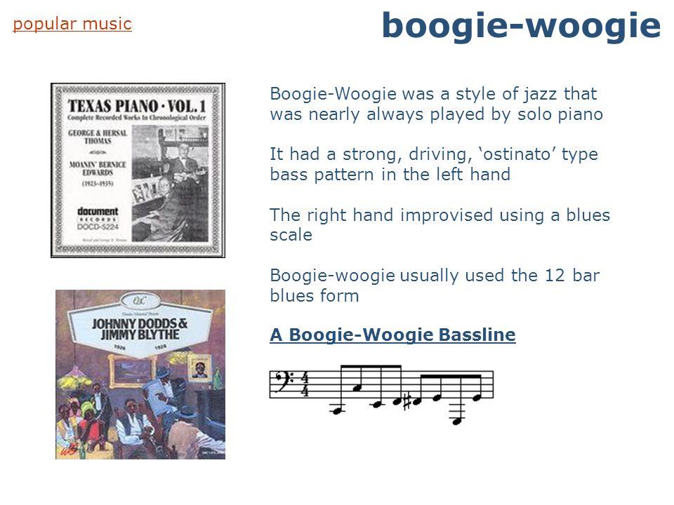 boogie-woogie popular music