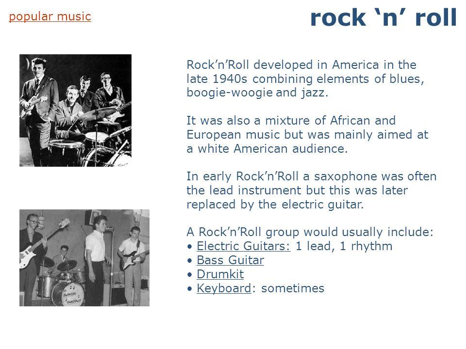 rock 'n' roll popular music