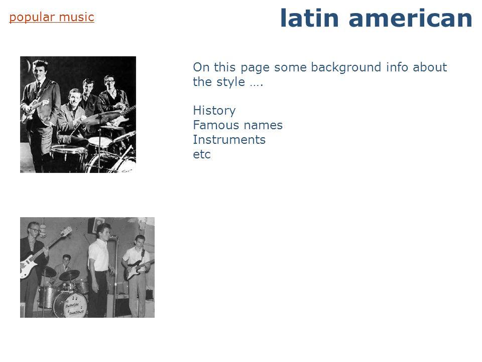 latin american popular music