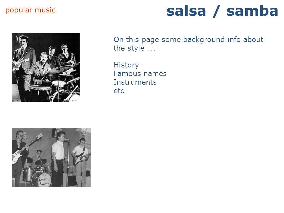 salsa / samba popular music