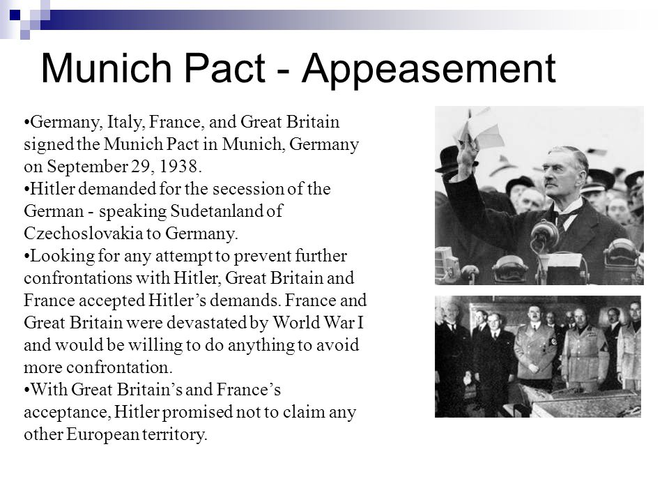Munich Pact - Appeasement