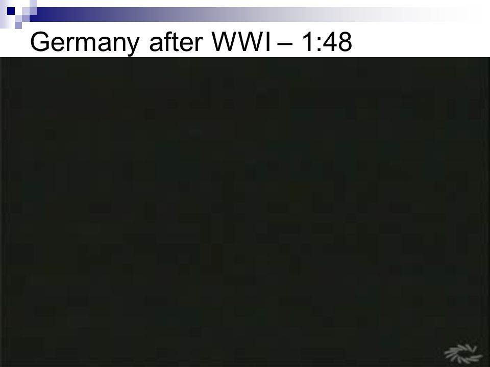 Germany after WWI – 1:48