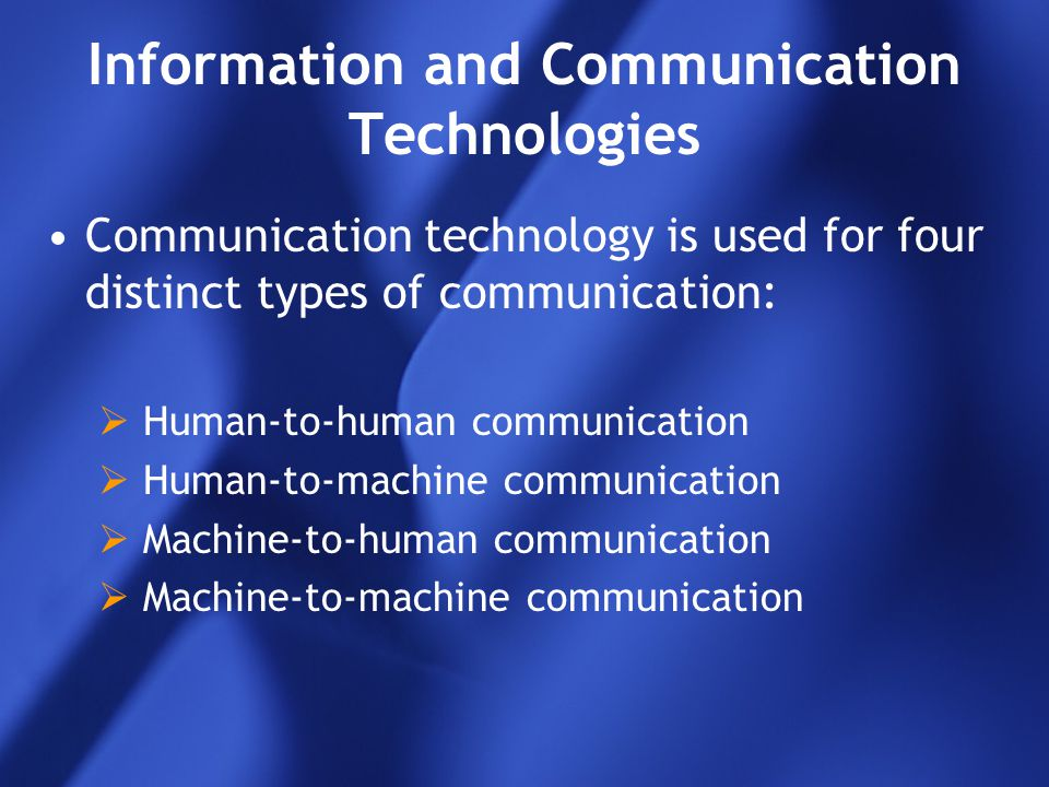 Information and Communication Technologies