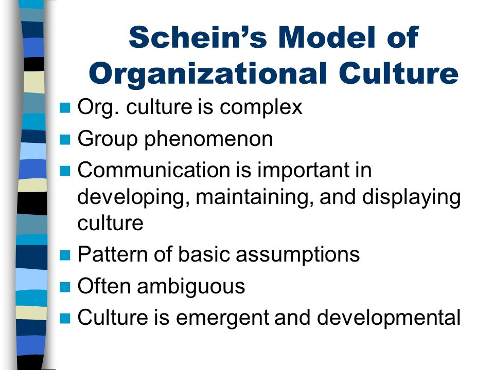 Schein's Model of Organizational Culture