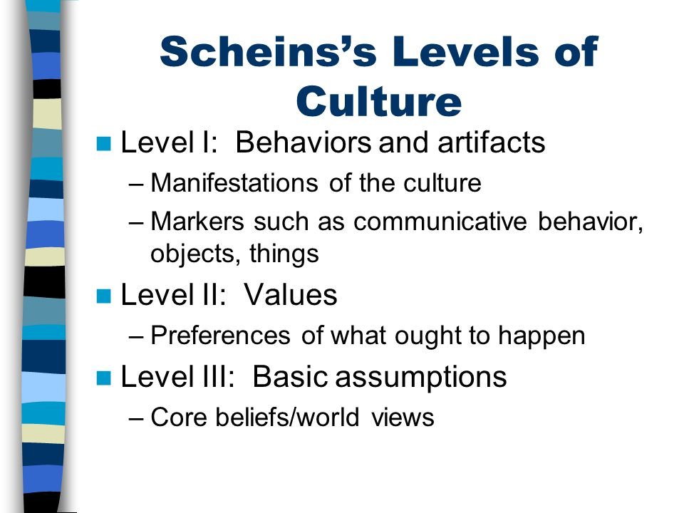 Scheins's Levels of Culture