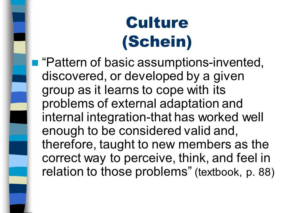 Culture (Schein)