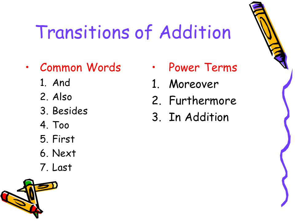 Transitions of Addition