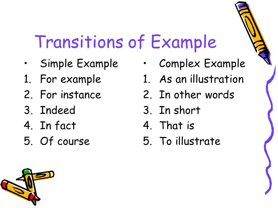 Transitions of Example