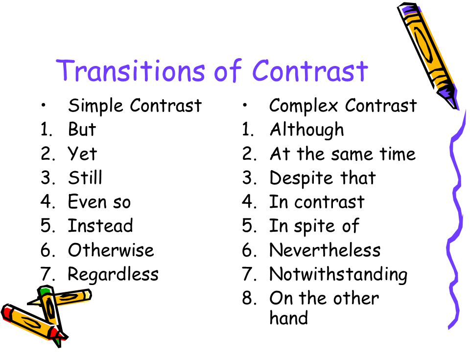 Transitions of Contrast