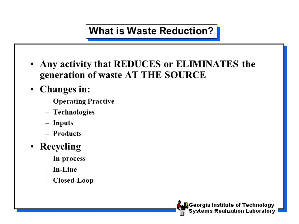 What is Waste Reduction