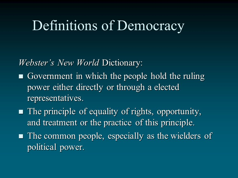 Definitions of Democracy