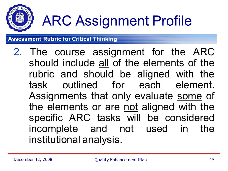 ARC Assignment Profile