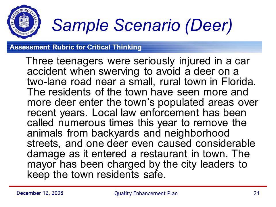 Sample Scenario (Deer)