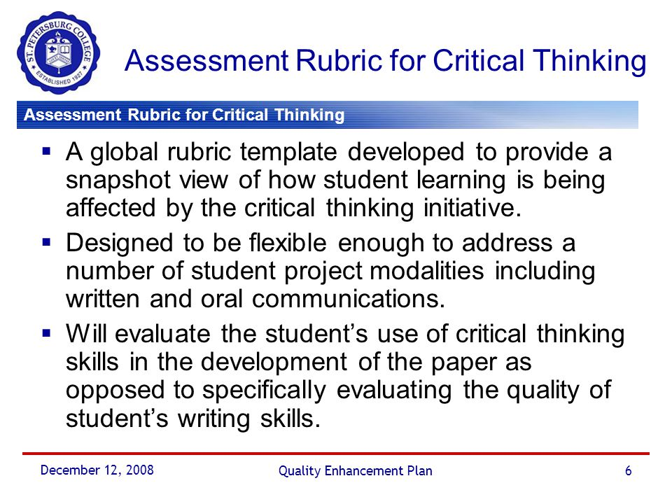 assessment critique