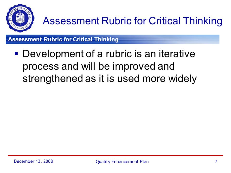 critical thinking survey