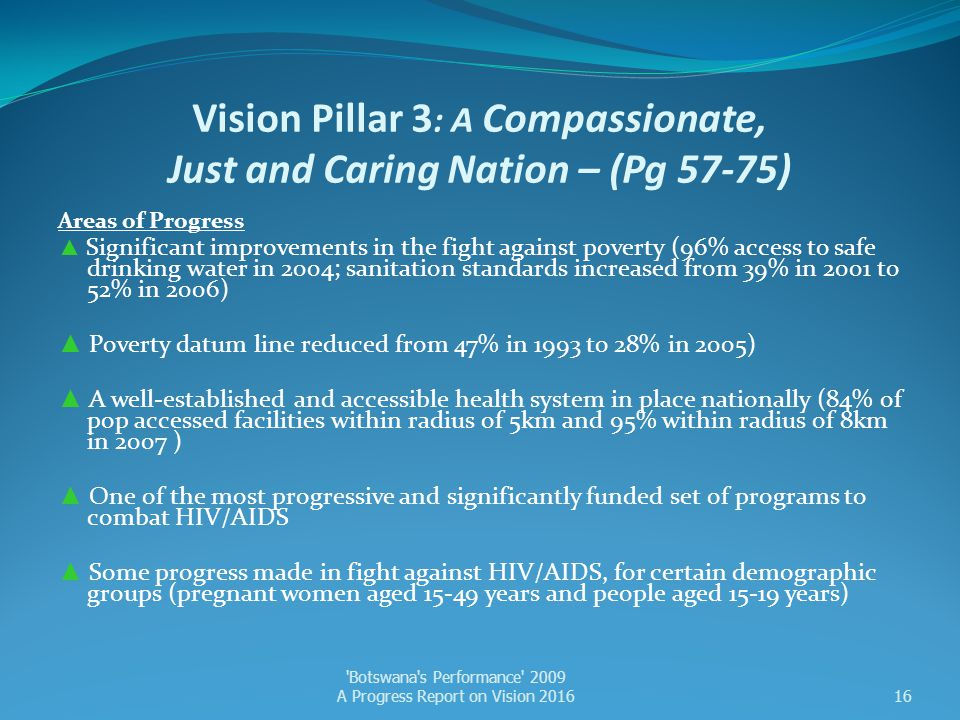 Vision Pillar 3: A Compassionate, Just and Caring Nation – (Pg 57-75)
