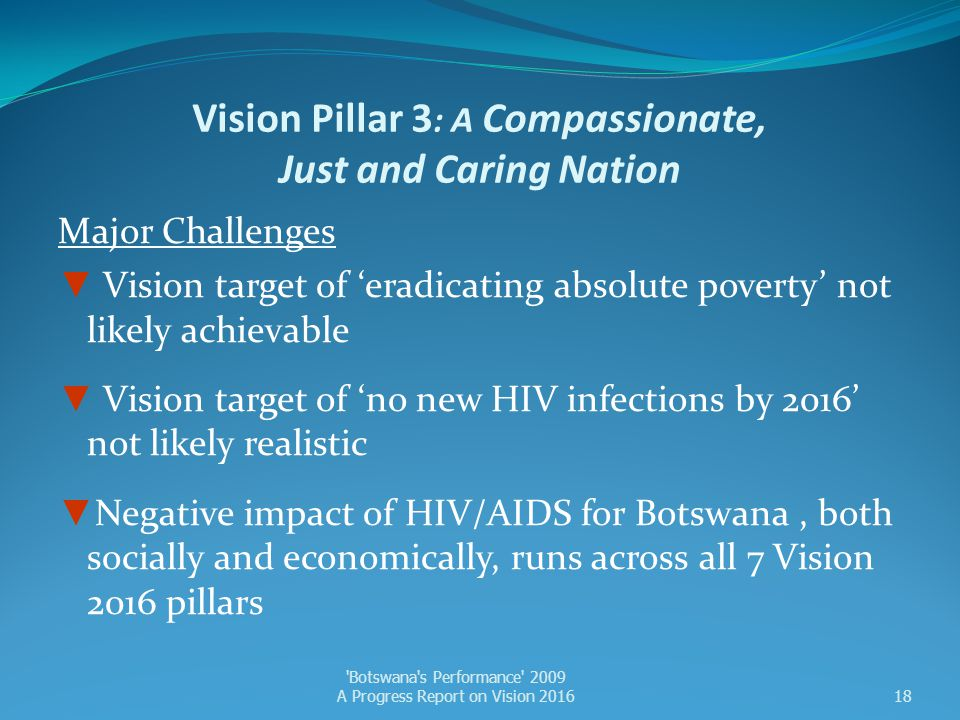 Vision Pillar 3: A Compassionate, Just and Caring Nation