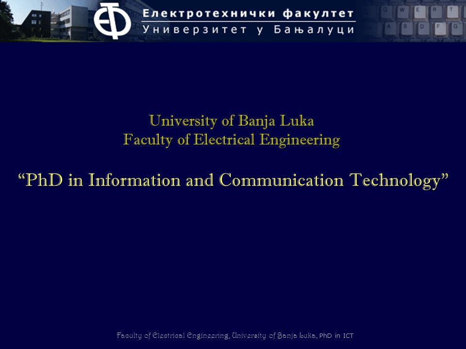 PhD in Information and Communication Technology